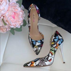 JustFab Lexie Butterfly Heels